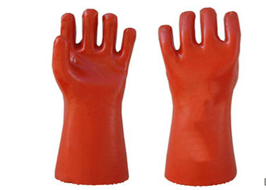Chemical Proof PVC Coated Gloves Non Toxic For Machinery Manufacturing