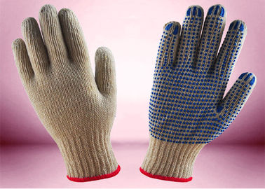7 Gauge Bleached White Cotton Knit Gloves 7 - 11 Inches Size Skin - Friendly