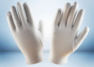 Light Weight Cotton Work Gloves Absorbing Sweat White Jewelry Handling Gloves