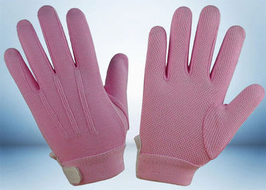 Dyed Colors Cotton Work Gloves Magic Tape On Wrist 145gsm Fabric Weight