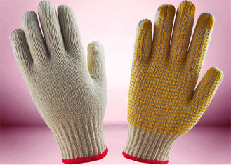 Seamless Knitted Cotton Gardening Gloves , Hand Protection Gloves 8 - 10 Inch Size