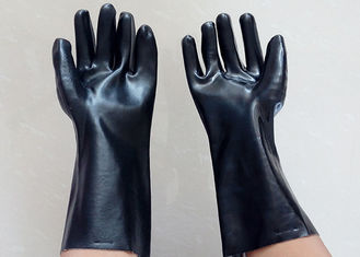 Abrasion Resistant Heavy Duty Gauntlet Gloves , Insulated PVC Gloves Open Cuff