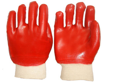 Fashion Design PVC Coated Gloves Cotton Interlock Lining High Durability