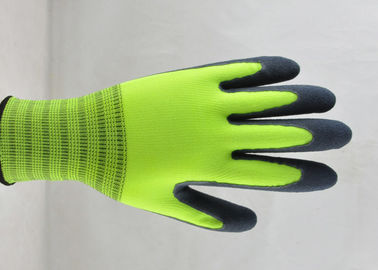 Sandy Finish Nitrile Coated Gloves Nylon Knitted Ultimate Close Fitting